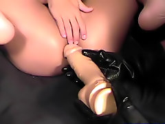 My arsehole swallowed it and was taking the sextoy all the way.