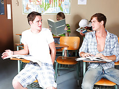 """""""I hate you - I have an extreme hatred for you"""" Jayden Ellis spits at Caleb Coniam during Biology class hot gay twink videos at Teach Twinks"""