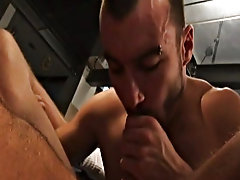 Thierry gets filled and fucked to his delight gay bear male sex suckin at Alpha Male Fuckers