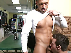 he was this guy was all in im guessing he found my boy cute lol so he took the offer and my boy sucked this guys dick basically infront of everyone th