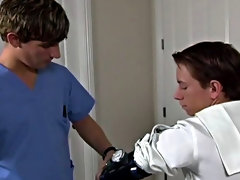 Brusquely after, the nurse leaves, in walks the Dr. (played by Blake Bigalow) where he conducts his own version of a physical exam outdoor group gay s