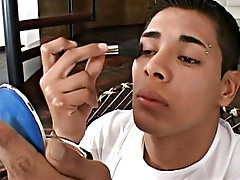 Rodolfo always takes s with his looks, but now he tries even harder carefully applying powder, blusher and bright lipstick to make his cute face look