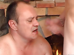 A guy leafs washing one's hands of a porn-ammunition when his old mature friend enters the apartments suddenly nude hunks and guys birthda