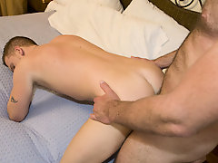Gay rookie Luke came to us with his fantasy of being nailed via his favorite hung stud porn st