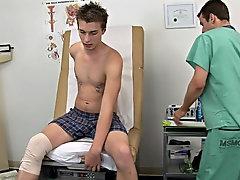 I had Ashton clothe back onto the exam tableland and I started looking and examining his knee area free gay teen blowjobs