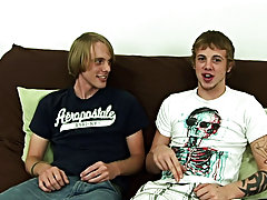 Each boy took off his undies and threw them to the side, Corey leaning over and sucking down Mike's long dick euro gay twinks