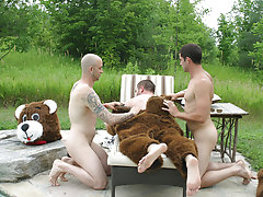 The guys have got themselves a bear this week gay action hunks