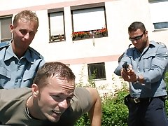 A cop, Sergio Soldi, comes and takes Shawn to the infirmary male teen group sex
