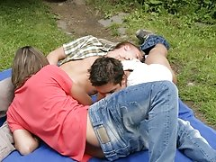The section opens with two guys fetching a hike together cruising for outdoor gay se