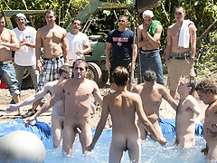 There is nothing like a amicable summer time splash, especially when the pool is man made and ghetto rigged as fuck gay group sex