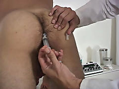 Inserting the thermometer in my ass, he let it sit there for a importance  he took a reading gay hunk penis