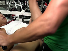 Joey's at it again, we decided to head out to the gym for a little workout ass straight men muscl