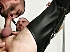 Both guys take it in turns to ram their meat into each others holes in close action to make your blood pump faster than you on your cock bondage gay v