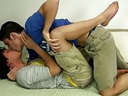Aj soon climbs on top of Tristan dry fucking him and letting him suck and jerk on his cock until that guy explodes his pecker juice all over Tristan&a