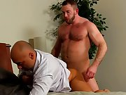 Male bodybuilders masturbation story and men fucking each other in leather jeans at My Gay Boss