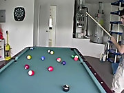 Horny Buds play a game of 'Strip Pool' then Fuck old and twink gay