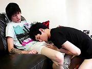 Inked emo Lewis Romeo is the dom chap right from the start of this video, quick to release Kyle Wilkinson's big uncut jock from his jeans as they