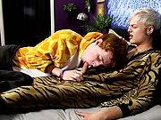 Tan twink panties and cute blonde boy gay video post