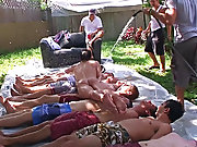 he had all his pledges laying down and they each took turns sliding on top of every other gays having group sex