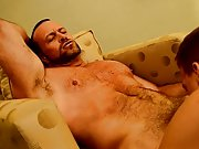 Men jerking in their dirty underwear and muscle man condom cum eating at Bang Me Sugar Daddy