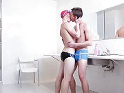 Gay twinks fill their underpants with their sperm...