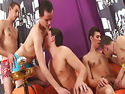 Gay group anal sex and gay group sex mykonos at Crazy Party Boys