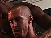Both Rocco and Carioca have a go on Freddy's ass, making him grunt and groan in pure ecstasy as one as well as the other boyz receive their schlo