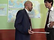 The teacher looked demanding that era hairy mature...
