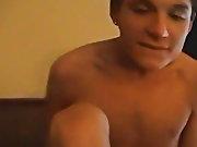 Boy fills up on cum and hot lad cum - at Boy Feast!