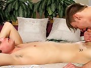 Extremely handsome black muscle man fucking twink and cute boy jerking at My Husband Is Gay