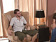 The guys suck loads of cock, then Reese sits down in the nearby easy chair and pulls Taylor down on top of him straight men anal