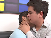 Good thing they were paired up in a project where they have to work together gay jordan his first huge cock