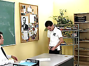 Teacher is a bit submissive after dominating his class all heyday long gay twink gangbang at Teach Twinks