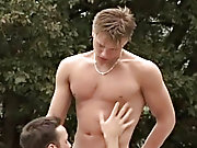 Karel is jerking off while looking at his gay sweetheart lying under the sun males caught outdoors nude