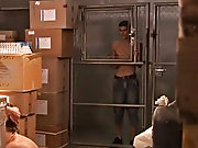 Two gay twinks are working in a stock-in-trade, moving recondite objects shirtless young teen model