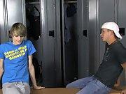 They blow each other fiercely before Preston uses his wet cock to fuck Kayden right there in the locker room first gay stories at Teach Twinks