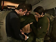 Mike is about to get a lesson in breaking rank when he gets his asshole broken open on the first time nearby Kiko and Mikee gay rights in the military