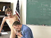 Teacher Tyler Dawson then proceeds to fuck Kaiden's close gaps in tauten ass hard and good over his school desk gay twinks anal sex at Teach Twin
