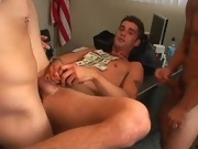 After hitchhiking and fucking his less across the country Jason finally has a chance to make some real money free naked gay twinks