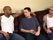 His first huge cock interracial gay wife