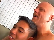 But we know this shy Asian twink should be loosened up before he's ready gay cigar hunks