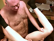 The loving boy did not mind having his blazing asshole plundered with some old beef after receiving such a generous blowjob horny mature men