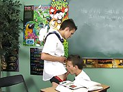 Dustin Revees and Leo Page are two schoolboys stuck in detention gay twink foreplay at Teach Twinks