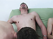 Shane and Braden knelt over Sean, both wanking off hard, Shane shooting first, his cum covering the entire left side of Sean's face gay oral grou